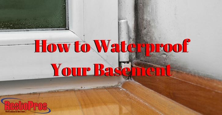 how to waterproof your basement restopros